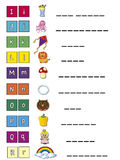 Alfabet Royalty-vrije Stock Afbeeldingen