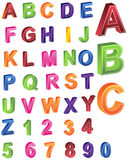 alfabet 3d Royaltyfri Foto