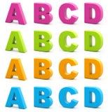 alfabet 3d Royaltyfri Fotografi