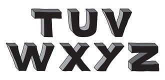 alfabet 3d av stenen (del 4) Arkivfoto