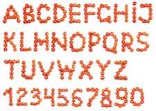 Alfabet av tomater Royaltyfri Fotografi