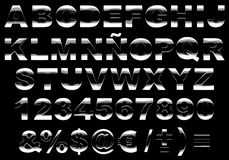 alfabet blank isolerad metall 3d Royaltyfri Foto
