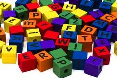 alfabet bloków Zdjęcia Royalty Free