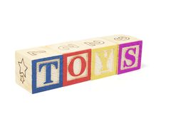 alfabet bloków zabawki Obrazy Stock