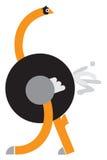 Alfabet Brief O Een struisvogelcijfer uit brieven wordt samengesteld die Stock Fotografie