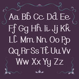 Alfabet, Brieven Royalty-vrije Stock Foto's