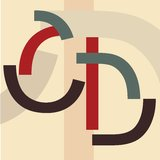 Alfabet C, D Royalty-vrije Stock Foto