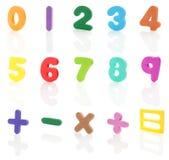 Alfabet - cijfers #2 | Geïsoleerdf stock foto