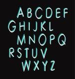 alfabet cztery elementy projektu tła snowfiake białego Obrazy Royalty Free