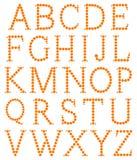 Alfabet dat van sinaasappel wordt gemaakt Royalty-vrije Stock Foto's