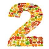 Alfabet dat van vruchten en groenten wordt gemaakt Royalty-vrije Stock Foto's