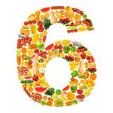 Alfabet dat van vruchten en groenten wordt gemaakt Royalty-vrije Stock Foto