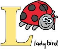 alfabet djurt l nyckelpiga Royaltyfria Bilder
