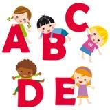 alfabet e vektor illustrationer
