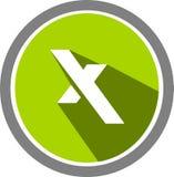 Alfabet x embleem en malplaatje Royalty-vrije Stock Afbeeldingen