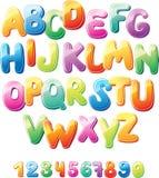 Alfabet en aantallen vector illustratie