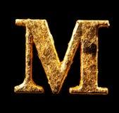 Alfabet en aantallen in bladgoud royalty-vrije stock fotografie