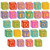 Alfabet Engelse blokken Stock Foto's