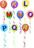 alfabet eps balonowy r j. Fotografia Royalty Free