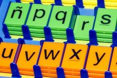 Alfabet: färgglat Arkivfoton