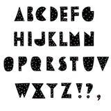 Alfabet för abstrakt hand för vektor utdraget royaltyfri illustrationer