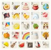 Alfabet för barn stock illustrationer