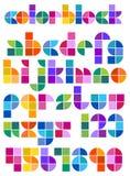 Alfabet för färgkvarterabstrakt begrepp Royaltyfri Bild