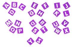 Alfabet för mallar för affischbrädestencil Arkivbilder