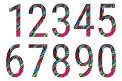 Alfabet för nummer 1 till 0 Royaltyfri Fotografi