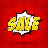 Alfabet för Sale komikerstil Royaltyfri Bild