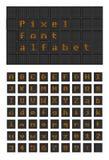 Alfabet för stilsort för PIXEL för belysningkula vektor illustrationer