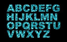 Alfabet för typ för vattensimbassängstilsort Arkivbild