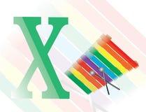 Alfabet x för xylofon royaltyfri bild