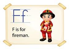 Alfabet F Arkivbild
