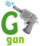 Alfabet G vector illustratie