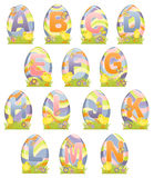 alfabet gulliga easter Arkivbild