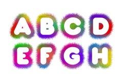 Alfabet A - H Royaltyfria Bilder