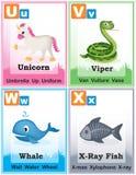 Alfabet het leren boekpagina 6 Royalty-vrije Stock Afbeeldingen