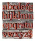 Alfabet in het type van grungemetaal Royalty-vrije Stock Afbeelding