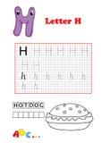 Alfabet, hotdog Royalty-vrije Stock Afbeeldingen