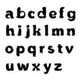 Alfabet i grungestil Arkivbild