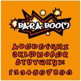 Alfabet i komiker för stil för popkonst Royaltyfri Bild