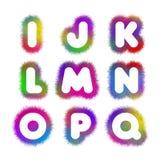 Alfabet I - Q Royaltyfri Bild