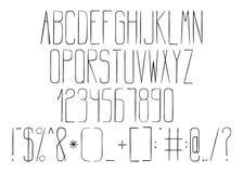 Alfabet i teknisk teckning för stil royaltyfri illustrationer