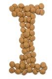 Alfabet I van de Noot van de gember stock afbeeldingen