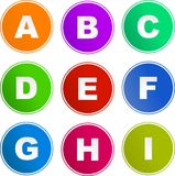 alfabet ikon znak Obrazy Royalty Free