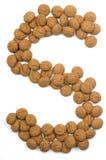 alfabet imbirowa s nuts Zdjęcia Royalty Free