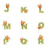 Alfabet J-R Fox Stock Foto's