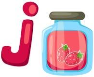 alfabet J voor jam Stock Afbeelding