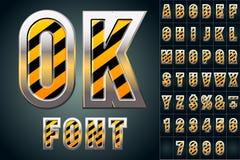 Alfabet in kleur van waarschuwingsbord Royalty-vrije Stock Afbeeldingen
